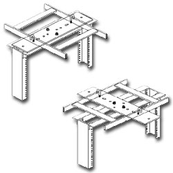 Southwest Data Products Channel Rack to Runway Mounting Plate