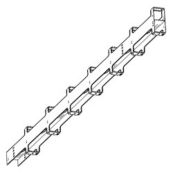 Chatsworth Products Double-Sided Wide Vertical Cabling Section