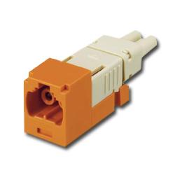 Panduit® Mini-Com FJ Opti-Crimp Y-Keyed Duplex Jack Orange Module 62.5/125um