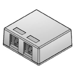 ICC Surface Mount Box 2-Port (Package of 25)
