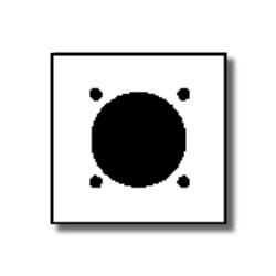 Leviton 2-Gang Flush Mount 2.15 Inch Dia. Device Receptacle Wallplate