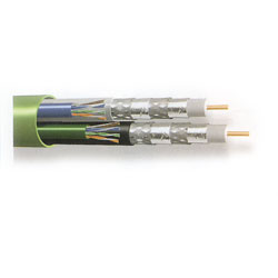 Belden Bundled Multimedia Cable - 2 RG6 / 2 Cat 5, 500'