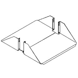 Southwest Data Products Aluminum Double Sided Rack Shelf