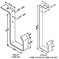 Chatsworth Products J-Hook Ceiling Cable Bracket