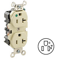 Leviton Back and Side Wired Duplex Receptacle