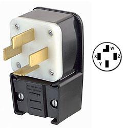 Leviton 120/208V Flush Mount Receptacle Matching Angle Plug