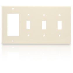 Leviton 4-Gang 3-Toggle 1-Decora/GFCI Device Combination Wallplate