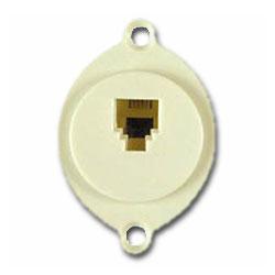 Allen Tel Flush Modular Jack for Round Openings (6P6C)