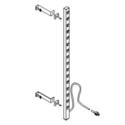 Southwest Data Products Vertical Rack Mounted Power Strip - 16 Outlet