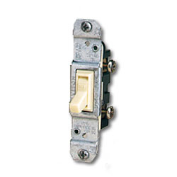 Leviton Quickwire and Side Wired Framed 3-Way, Less Ears with Grounding Screw