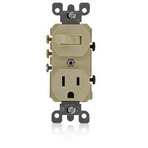 Leviton Leviton 3-Way Switch/Receptacle (Non-Grounding Switch)