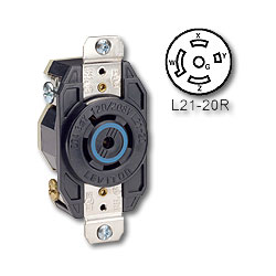 Leviton 20 Amp 120/280V Receptacle