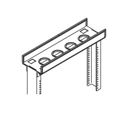 Chatsworth Products Rack Top-Mount Cable Trough for 3