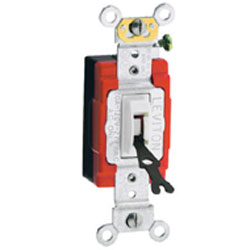 Leviton 3-Way Toggle Locking Switch, Brown