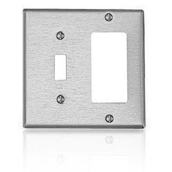 Leviton 2 Gang Faceplate with Toggle & Decora Openings
