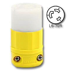 Leviton 30 Amp, 250 Volt Locking Connector