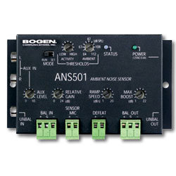 Bogen Ambient Noise Sensor with Power Supply and Microphone
