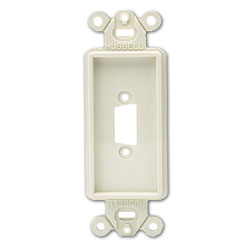 Hubbell Blank Decorator Outlet Frame - Single Gang (Package of 25)