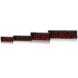 Valcom IP PoE Automatic Time Set Digital Clock - Double Sided