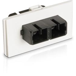 Siemon Bezel with Duplex Multimode/Singlemode SC Adapter, White