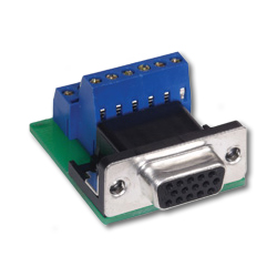 Hubbell AV Connector, 15-Pin D-Sub, Female Screw Terminal (Pkg. of 10)