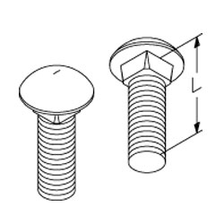 Chatsworth Products Carriage Bolts
