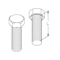 Chatsworth Products Zinc Plated Hex Cap Bolts