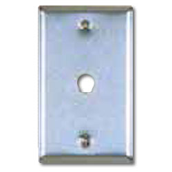 Allen Tel Stainless Steel Flush Wall Plates For 1  Coax Connector .005