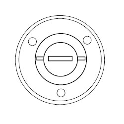 Hubbell Round Floor Box Flush Cover - Combo 2-1/8