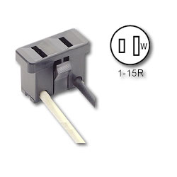 Leviton 2-Wired Polarized Outlet. Leads No. 14 AWG 105 Degrees C Plastic, 6