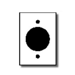 Leviton 1-Gang Flush Mount 2.15 Inch Dia. Device Receptacle Wallplate