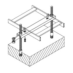 Chatsworth Products Adjustable Floor Support Channel, Cable Runway