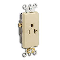 Leviton Decora Plus Single Back and Side Wired Self-Grounding Receptacle NEMA 6-20R