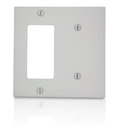 Leviton 2-Gang 1-Blank 1-Decora Device Combination Wallplate