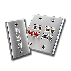 Leviton QuickPort Stainless Steel Wallplate