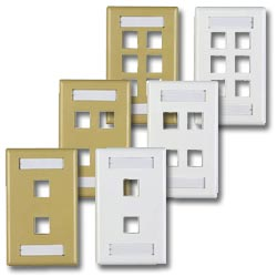 Allen Tel Versatap Faceplates with I.D. Stations (Package of 2)