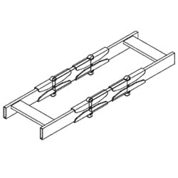 Chatsworth Products Isolator Bar, Cable Runway
