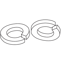 Chatsworth Products Zinc Plated Split Lock Washers
