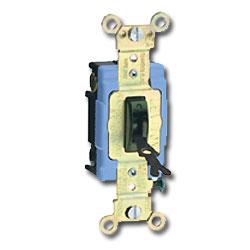 Leviton Toggle Locking Single-Pole AC Quiet Switch - 15 Amp