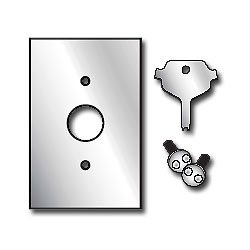 Leviton Stainless Steel Wallplate with Security Screws