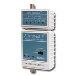 Hobbes USA SOHOtest-E Residential Cable Tester