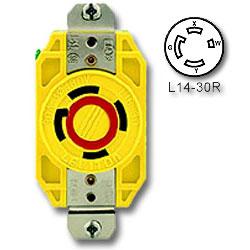 Leviton 30 Amp 125/250V Single Locking Flush Receptacle