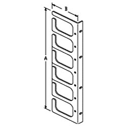 Chatsworth Products Horizontal Cable Guides (Rack-Mounted) - Six Loop