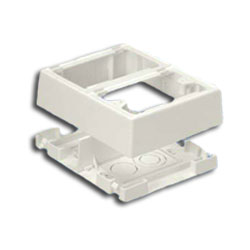 Panduit® Double Gang Two-Piece Snap Together Outlet Box