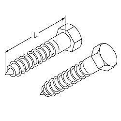 Chatsworth Products 1/4-10 Size Hex Lag Screw