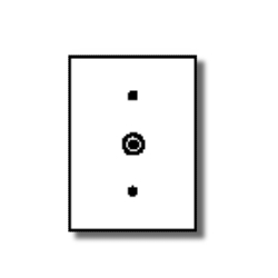 Leviton 1-Gang .406 Inch Hole Device Phone/Cable Wallplate