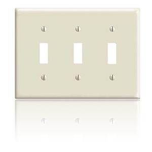 Leviton 3-Gang Toggle Switch Wallplate