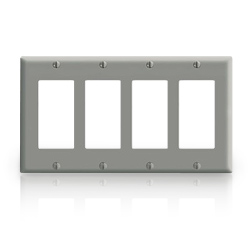 Leviton 4-Decora Midway Size Nylon Wallplate