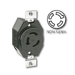 Leviton 20 AMP, 120/208V, Non-Nema Single Flush Receptacle