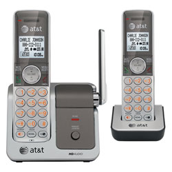 AT&T DECT 6.0 Expandable Digital Cordless Telephone with HD Audio and 2 Handsets